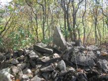 Stone pile between fields