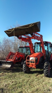 Tractors ready for planting