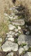 Ancient Roman road? No, just a dry creek bed