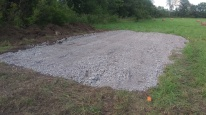 Site preparation for a shipping container for storage