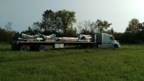 1- Building pieces are delivered