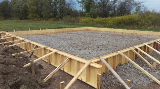 6 - Site prepared with rebar