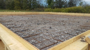7 - A closer view of the rebar and frames