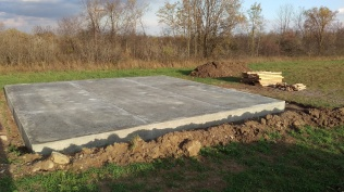 9 - Concrete foundation dried and ready for the building