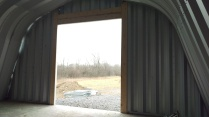 3 - Installation of a wood frame to secure the garage door