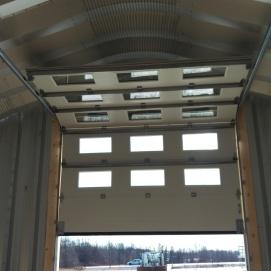 5- Garage door from the interior of the building