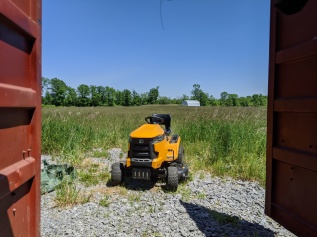 This trusty Cub Cadet lawn tractor has saved our skin on many occassions